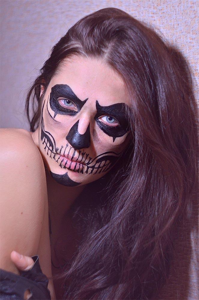 Deguisement maquillage squelette
