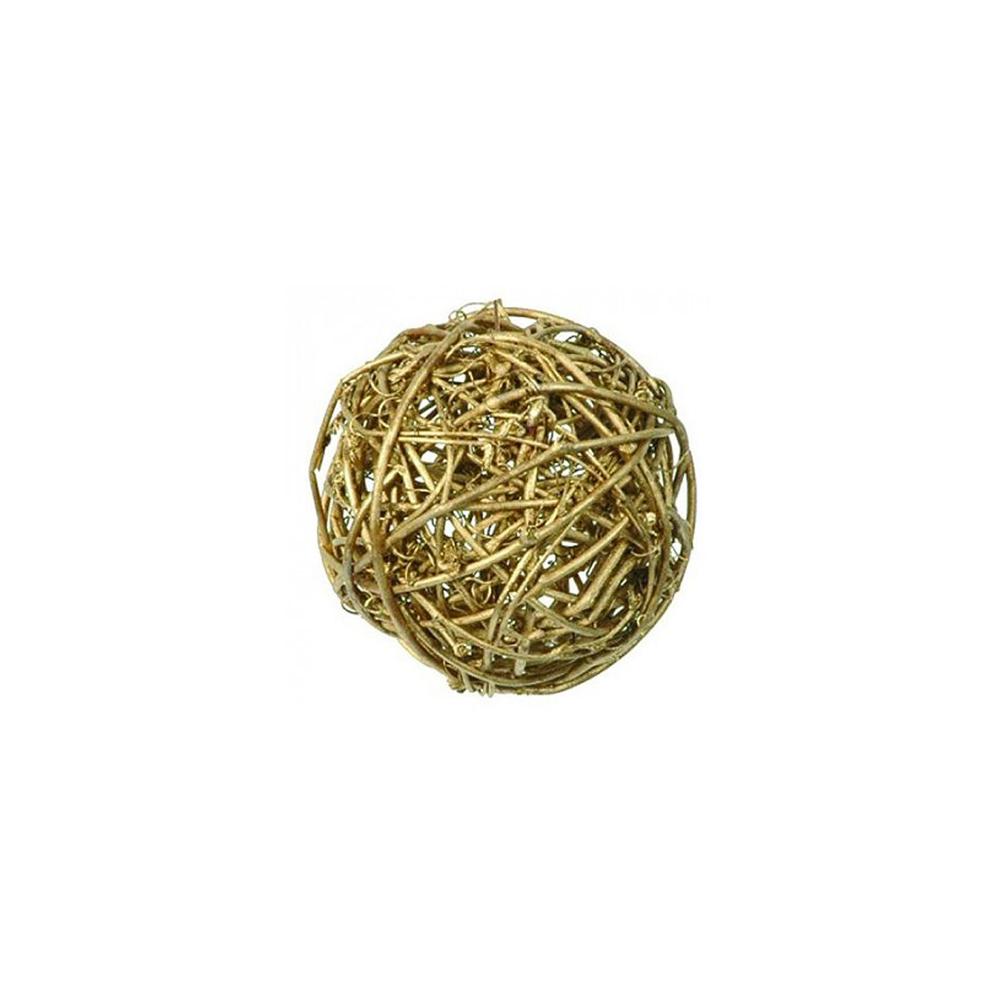 Boule en rotin dorée