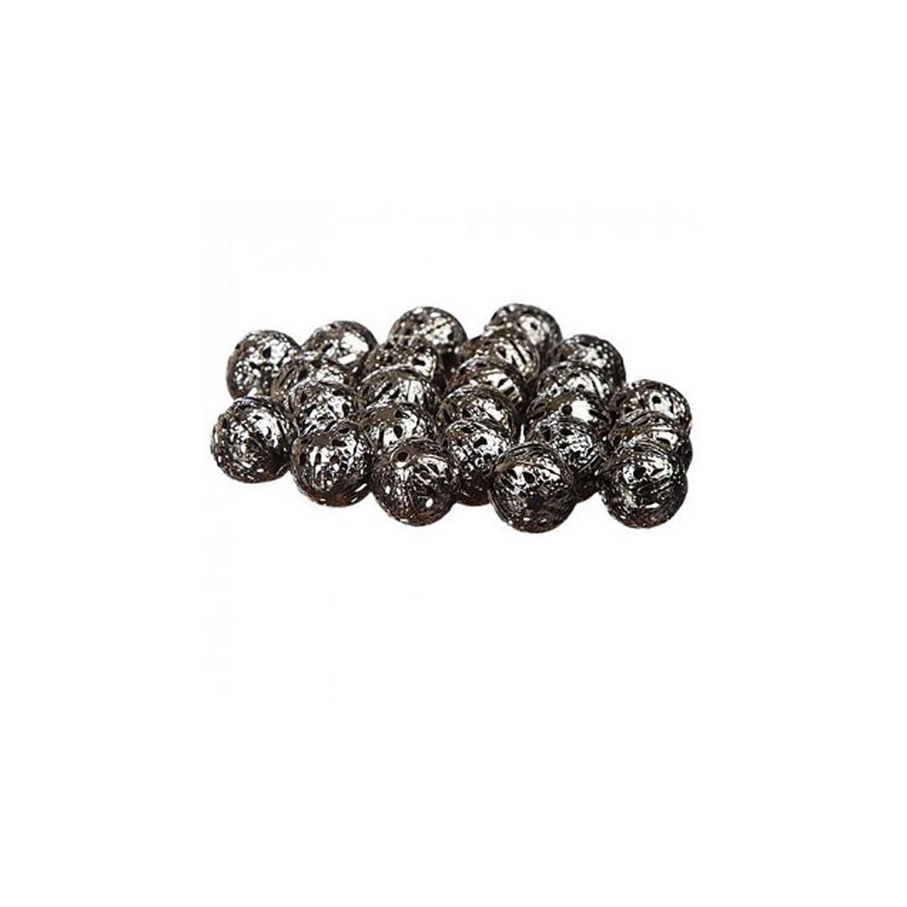 Perles Ajourées grises