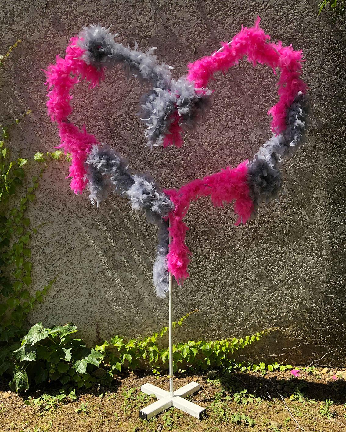 Arche en coeur décorée